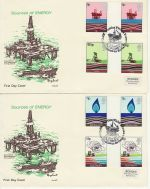 1978-01-25 Energy Gutter Stamps x2 Philart FDC (75913)