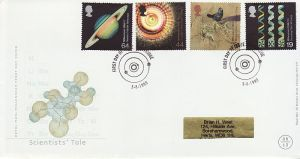 1999-08-03 Scientists Tale Stamps Cambridge FDC (76522)