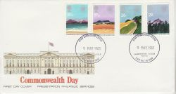 1983-03-09 Commonwealth Day Powys PPS FDC (76537)