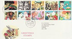 1993-02-02 Greetings Stamps Bureau FDC (76556)