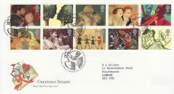 1995-03-21 Greetings Stamps Bureau FDC (76558)