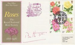 1976-06-30 Roses Stamps Bath Signed FDC (76653)