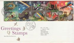 1991-02-05 Greetings Stamps Bureau FDC (76670)