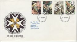 1987-06-16 St John Ambulance Stamps Chichester FDC (76675)