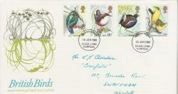 1980-01-16 Birds Stamps Kings Lynn FDC (76684)