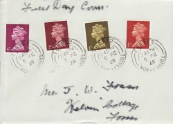 1968-02-05 Definitive Stamps Forres cds FDC (76969)