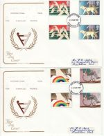 1981-03-25 Year of Disabled Gutters Maidstone x2 FDC (76400)