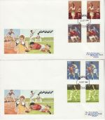 1980-10-10 Sport Gutter Stamps Maidstone x2 FDC (76402)