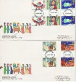 1981-11-18 Christmas  Gutter Stamps Maidstone x2 FDC (76404)