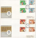 1981-08-12 Duke of Edinburgh Award Gutters x2 FDC (76405)
