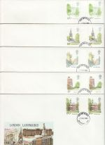 1980-05-07 London Landmarks Gutters x5 Philart FDC (76406)