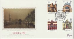1990-03-06 Europa Stamps Glasgow PPS Silk FDC (77061)