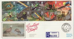 1991-02-05 Greetings Stamps Luckington cds FDC (77071)
