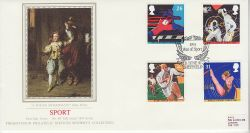 1991-06-11 Sport Stamps Sheffield PPS Silk FDC (77075)