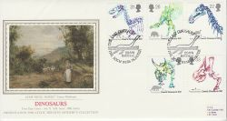 1991-08-20 Dinosaurs Stamps Inverness Silk FDC (77077)