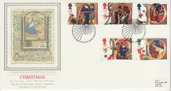 1991-11-12 Christmas Stamps Bethlehem PPS Silk FDC (77079)