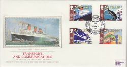 1988-05-10 Transport Stamps London SW1 Silk FDC (77098)