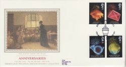 1989-04-11 Anniversaries Stamps London W1 Silk FDC (77108)