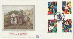 1989-05-16 Games and Toys Stamps Oxford Silk FDC (77110)