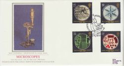 1989-09-05 Microscopes Stamps London SW Silk FDC (77113)