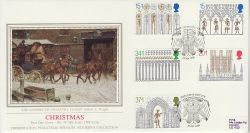 1989-11-14 Christmas Stamps Ely PPS Silk FDC (77115)