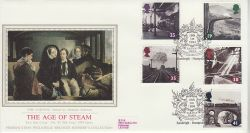 1994-01-18 The Age of Steam Stamps Eastleigh Silk FDC (77122)