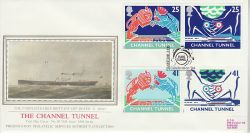 1994-05-03 Channel Tunnel Folkestone Silk FDC (77126)