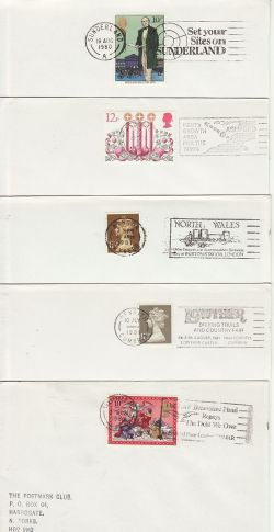 10 GB Slogan Postmarks on Envelopes (77176)