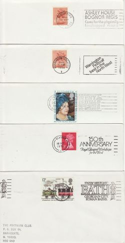 10 GB Slogan Postmarks on Envelopes (77178)