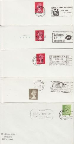 10 GB Slogan Postmarks on Envelopes (77182)