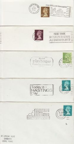 10 GB Slogan Postmarks on Envelopes (77184)