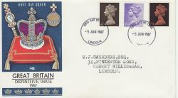 1967-06-05 Definitive Stamps Lincoln FDC (77234)