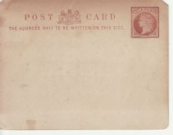 Queen Victoria Half Penny Post Card Unused (77255)