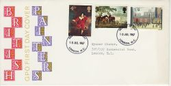 1967-07-10 British Painters Stamps London FDC (77259)