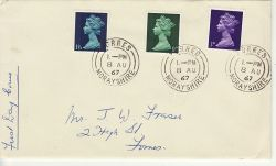 1967-08-08 Definitive Stamps Forres cds FDC (77269)