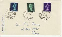 1967-08-08 Definitive Stamps Forres cds FDC (77270)