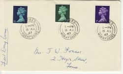 1967-08-08 Definitive Stamps Forres cds FDC (77271)