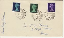 1967-08-08 Definitive Stamps Forres cds FDC (77272)