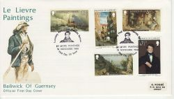 1980-11-15 Guernsey Le Lievre Paintings FDC (77283)