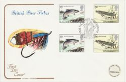 1983-01-26 River Fish Gutter Stamps Peterborough FDC (77354)