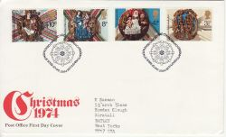 1974-11-27 Christmas Stamps Bethlehem FDC (77392)