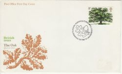 1973-02-28 British Trees Stamp London SW1 FDC (77398)