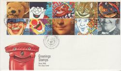 1990-02-06 Greetings Stamps Giggleswick FDC (77408)