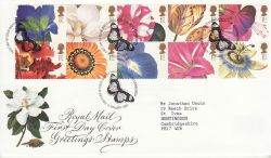 1997-01-06 Greetings Flower Stamps Bureau FDC (77410)