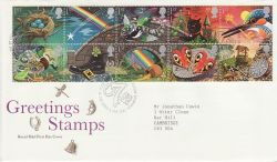 1991-02-05 Greetings Stamps Bureau FDC (77413)