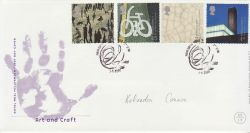 2000-05-02 Art and Craft Stamps Salford FDC (77448)