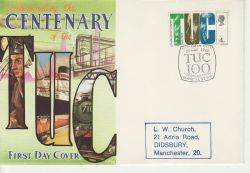 1968-05-29 TUC Centenary Manchester FDC (77471)