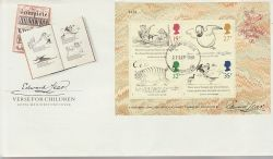 1988-09-27 Edward Lear M/S Stamps Cambridge FDC (77481)