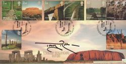 2005-04-21 World Heritage Tony Robinson Signed FDC (77516)