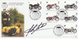 2005-07-19 Motorcycles Stamps John Surtees Signed FDC (77518)
